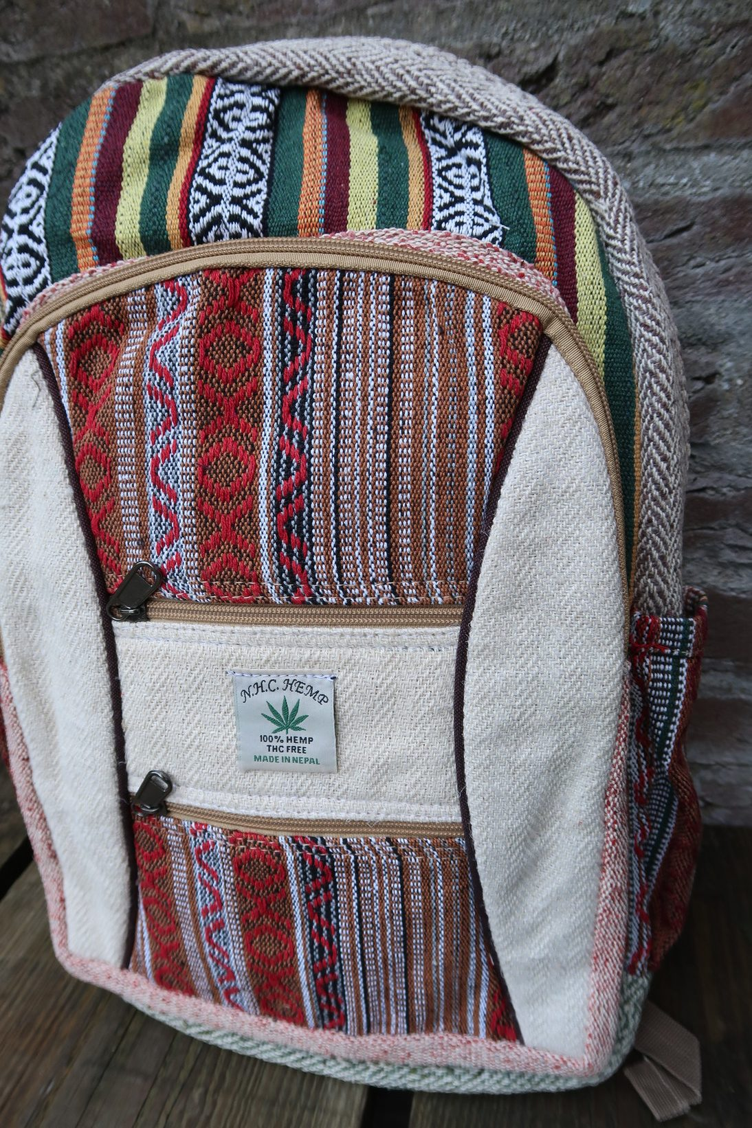 Hemp Fair Hennep Handmade Plant Handgemaakt Backpack Rugzak Nepal mNwOv8n0